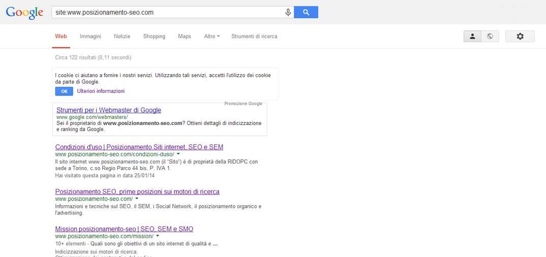 I comandi di Google
