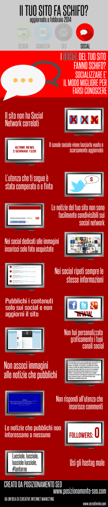 infografica social sito