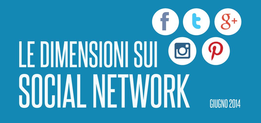 Infografica: Le dimensioni sui social network
