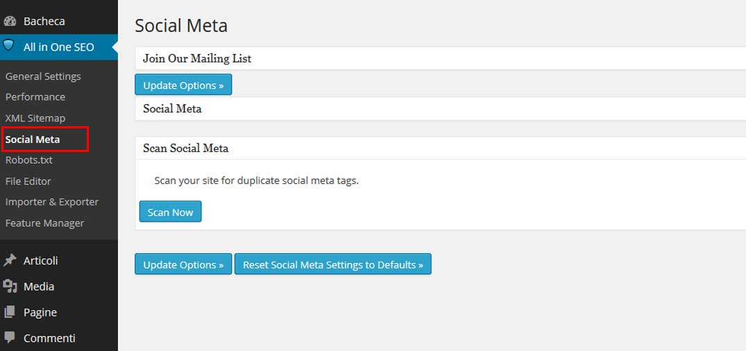 All in One SEO Pack – Social Meta