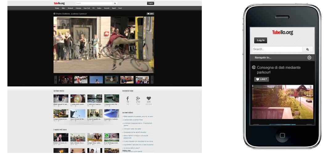 Il sito internet di Tubello