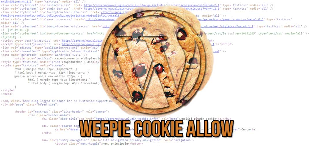 Plugin WordPress: WeePie Cookie Allow