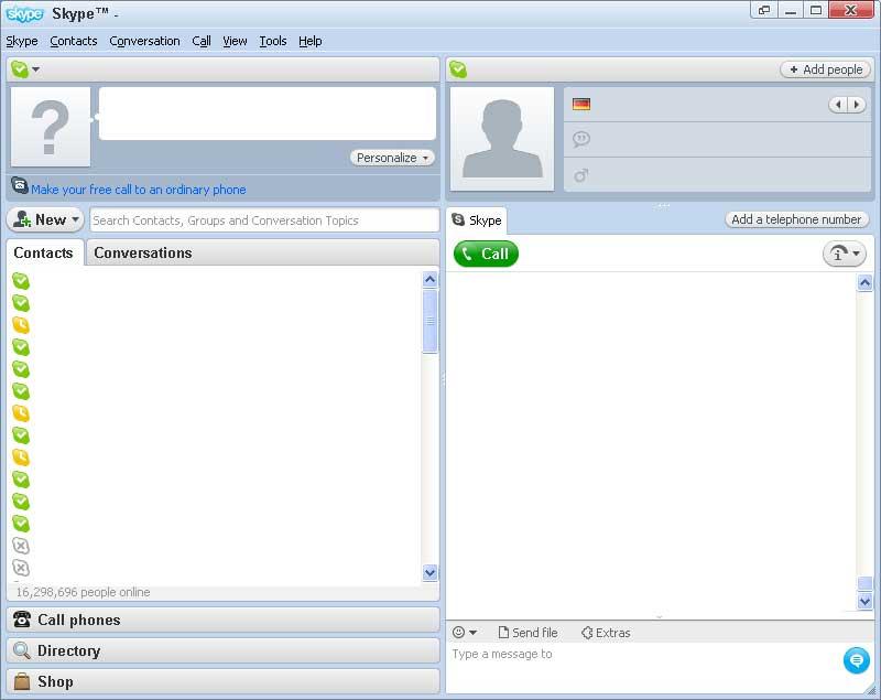 prima versione skype