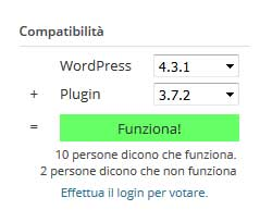 analisi compatibilita plugin wordpress
