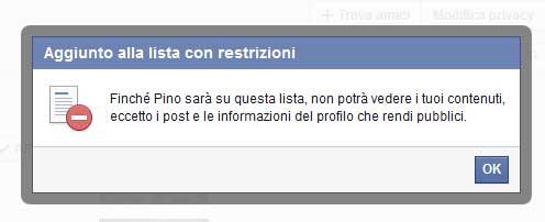 facebook lista restrizioni