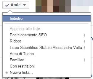 facebook selezione gruppo altre opzioni