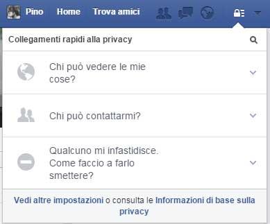 impostazioni privacy facebook