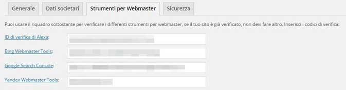 yoast tab strumenti per webmaster