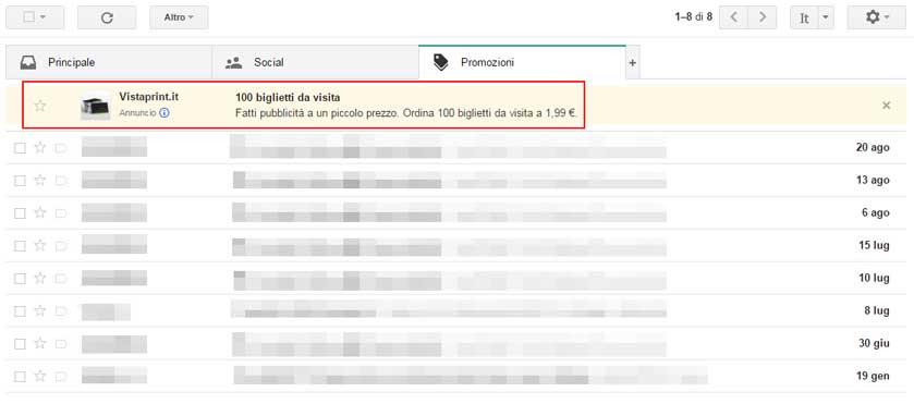 Gmail Ad chiuso