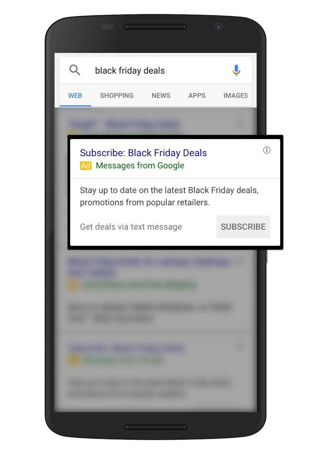 adwords sms ads