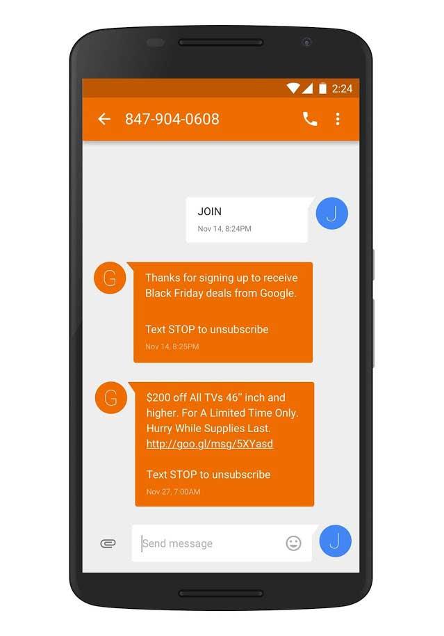 iscrizione adwords sms ads