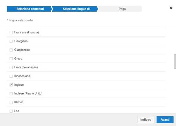 traduzione youtube seleziona lingue