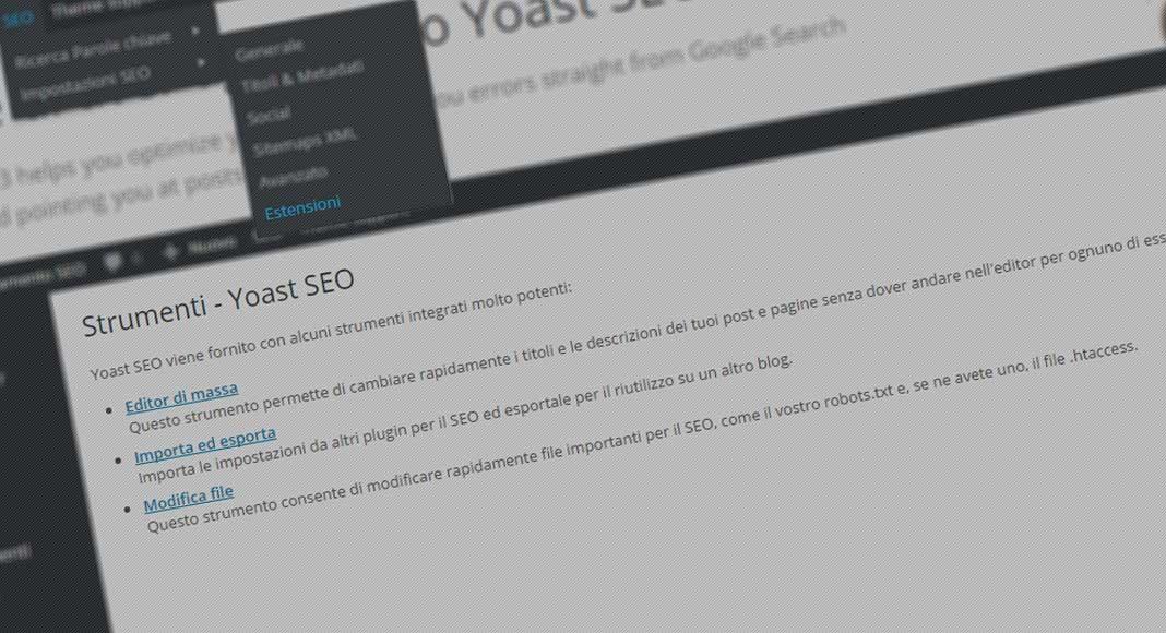 Yoast SEO: strumenti e estensioni