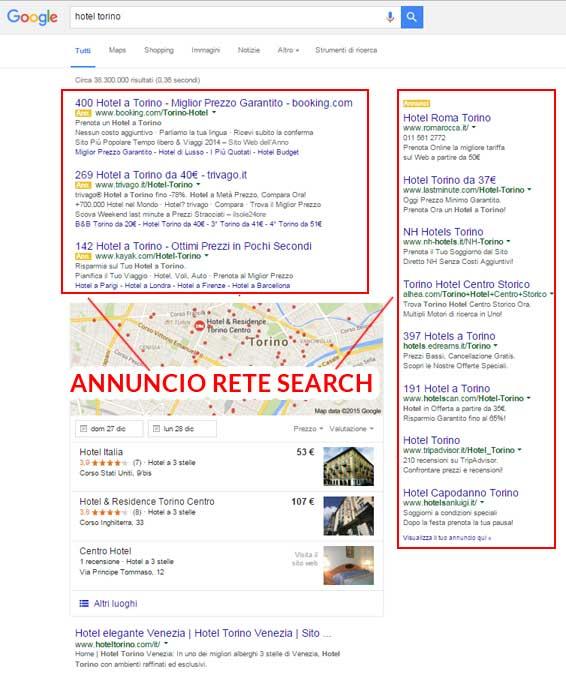 annuncio rete search