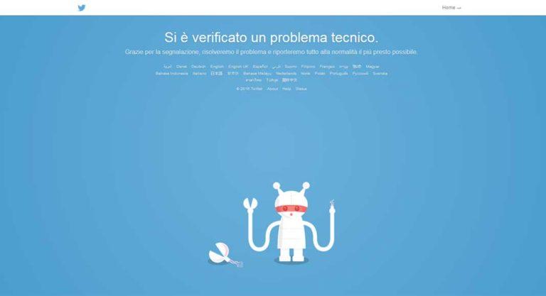 Errore Twitter: Jack Dorsey abbiamo un problema