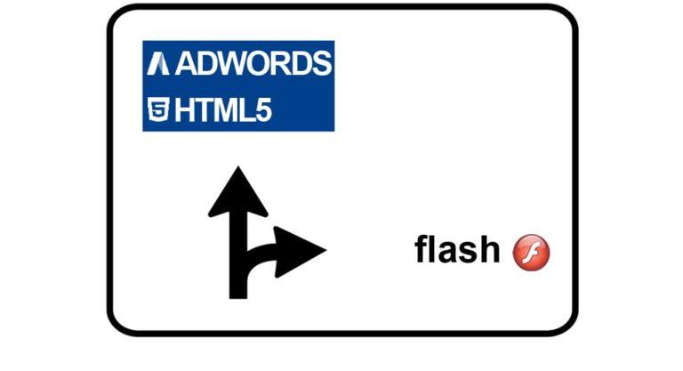Adwords e Flash: gli ads display verranno mostrati solamente in HTML5