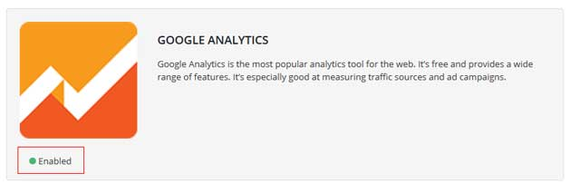 google analytics abilitato