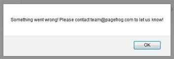 plugin amp messaggio errore