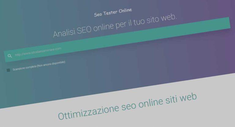 SEO Tester Online: servizio gratuito e italiano per analisi on-site