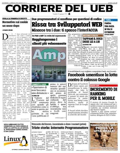corriere del ueb prima pagina