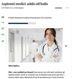 medico addio italia