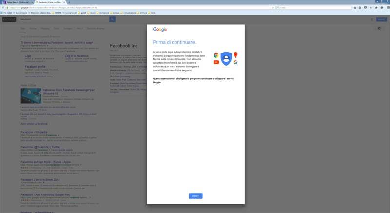 nuovo blocco privacy google