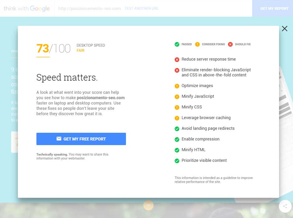 analisi desktop sito web