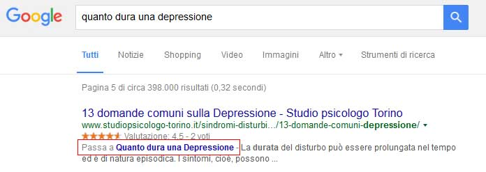 snippet link ancora