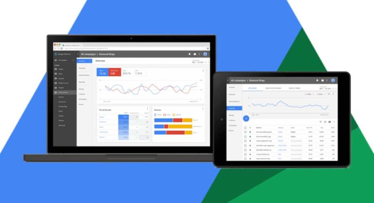 Adwords: l'interfaccia in Material Design
