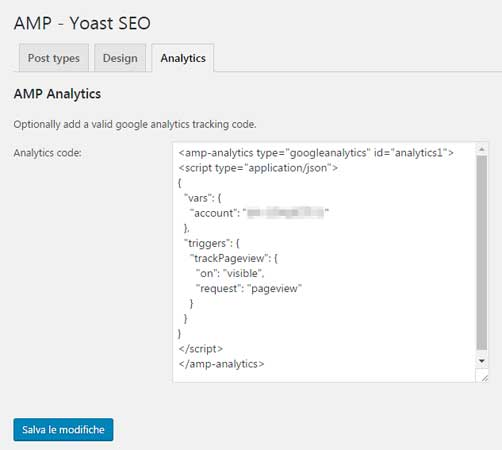 amp yoast analytics