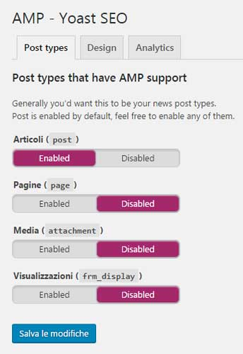 amp yoast post types