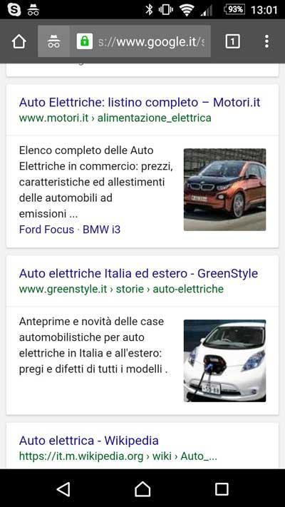 serp mobile immagine auto