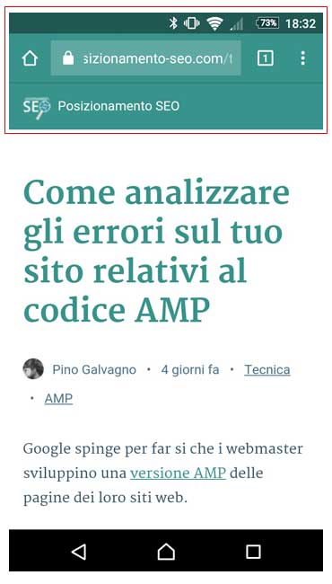 url amp chrome mobile