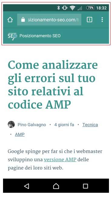 url amp chrome mobile