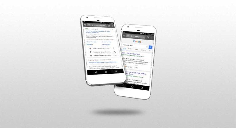 Esperimenti in bianco e nero per la nuova SERP mobile